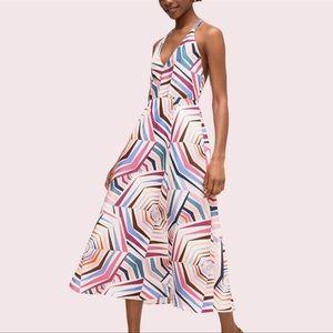 Kate Spade ♠️ Geobrella silk and linen dress nwot